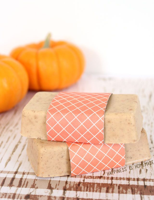 10-Minute Gift Idea: DIY Pumpkin Spice Soap - Happiness is Homemade