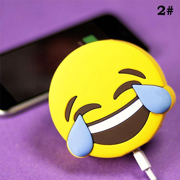 Emoji Funny Tears of Joy Portable 2600mAh Battery Unicorn Chargers Power Bank #Unbranded