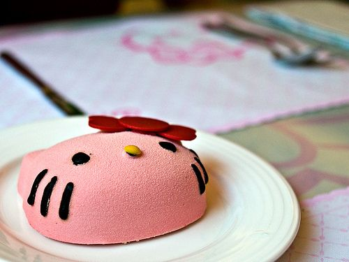Mocha Cafe Hello Kitty cake