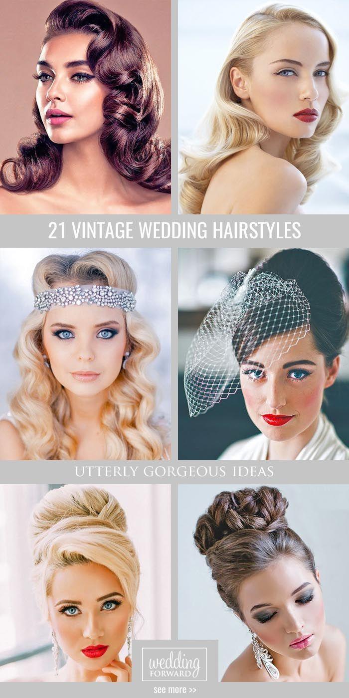 36 Vintage Wedding Hairstyles For Gorgeous Brides  Updoweddings