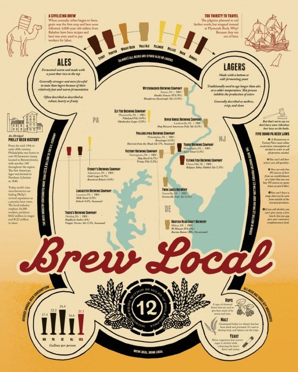 Brew Local - A Philadelphia Beer Infographic
