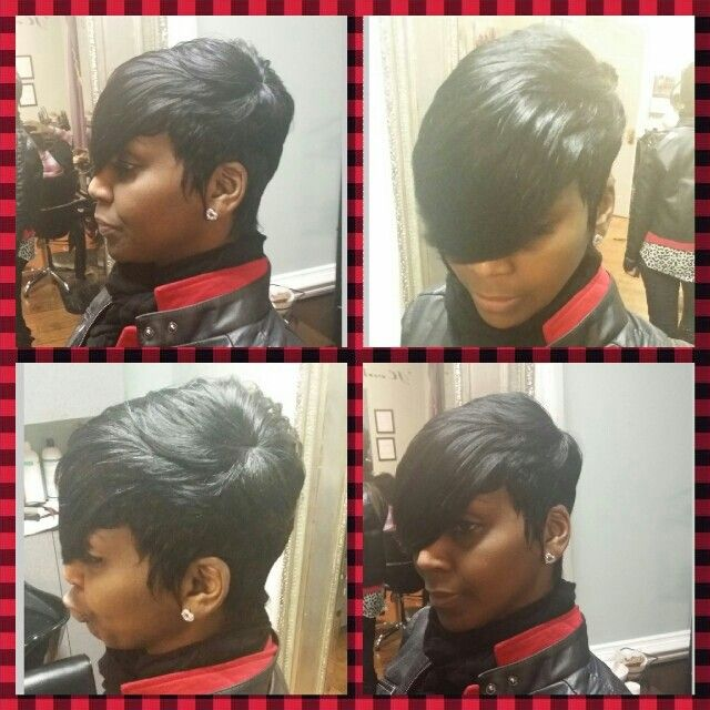17 Best Images About 27 Piece Weave Hairstyles On Pinterest Short Pixie Bobs And Black Women
