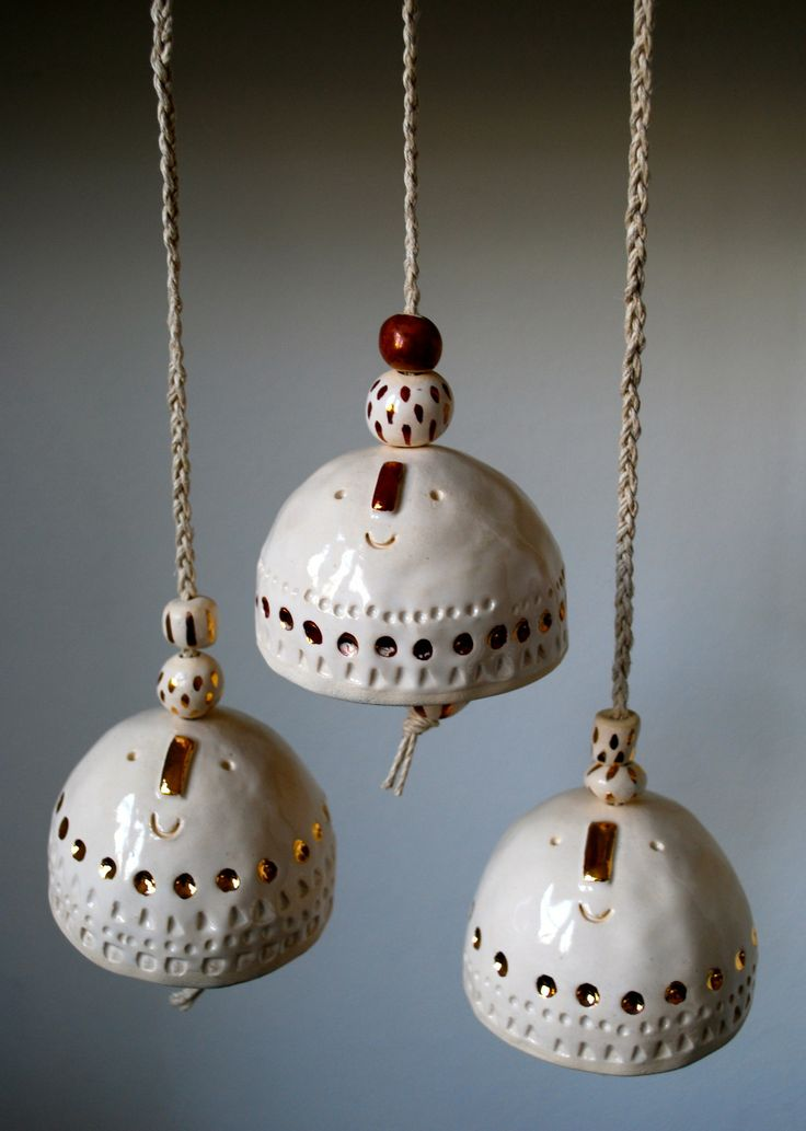 Bells with gold luster
