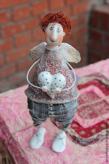 Коллекционные куклы ручной работы: ангел Сеня. Handmade.