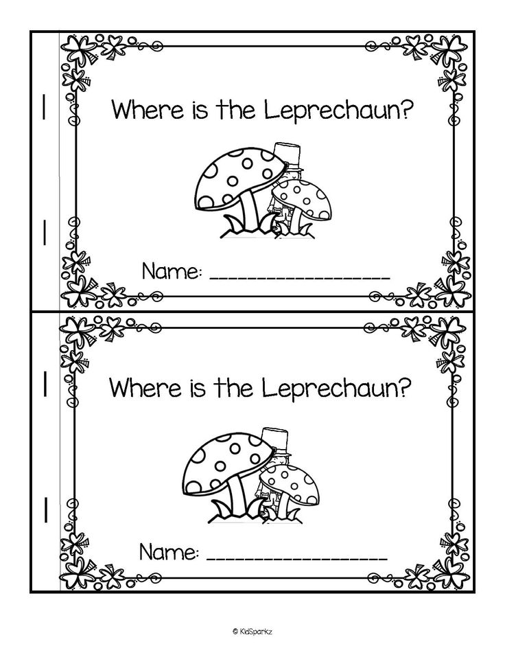 ***FREE***  Here is a predictable emergent reader with a St. Patrick's Day leprechaun theme, featuring 8 prepositions (positional words). Under, in, behind, on, in front of, on top of, beside, and at the end of. #stpatricksdaypreschool #leprechaunpreschool #prekactivities #emergentreader