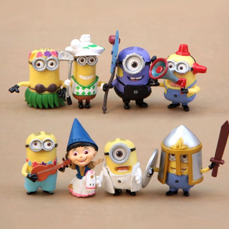New Despicable me 2 Cute Movie Character Figures Minions Doll Toy Set of 8pcs #UnbrandedGeneric
