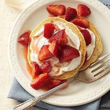 Diabetic Pancake Recipes Pancake Recipes Cream And Strawberries And Cream