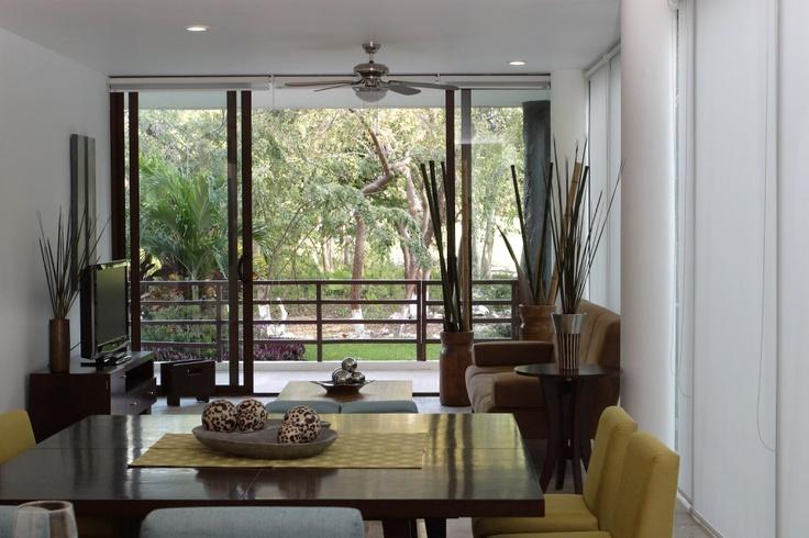 sala comedor, con un toque ecologico