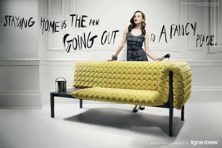 Fun Tag Lines And Morphing Of Fashion With Furniture Gives The Perfect