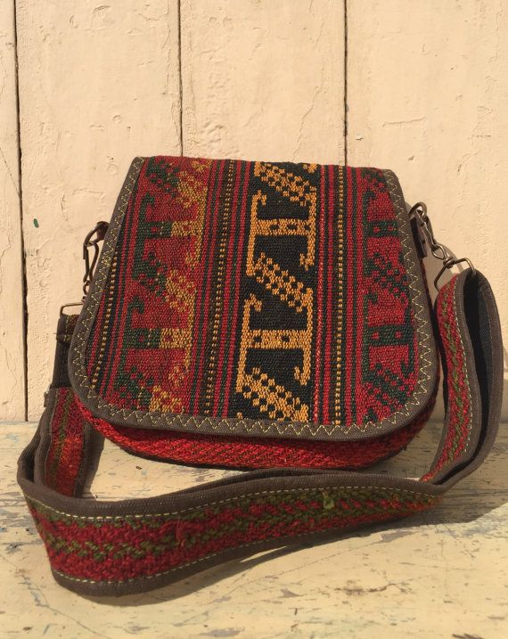 Vintage Gypsy unique Hand Woven Ethnic Boho Travel Bag by myemly