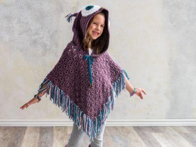 Owl Poncho Crochet Kit