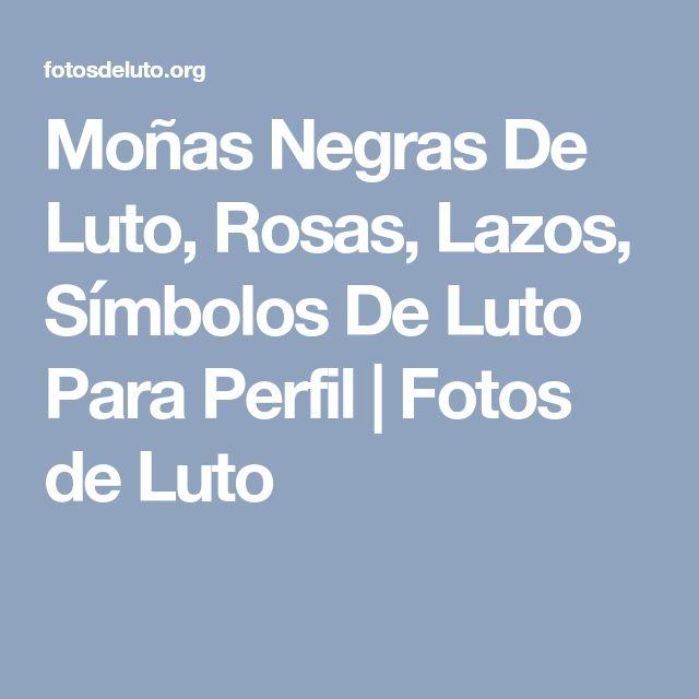 Moñas Negras De Luto, Rosas, Lazos, Símbolos De Luto Para Perfil | Fotos de Luto