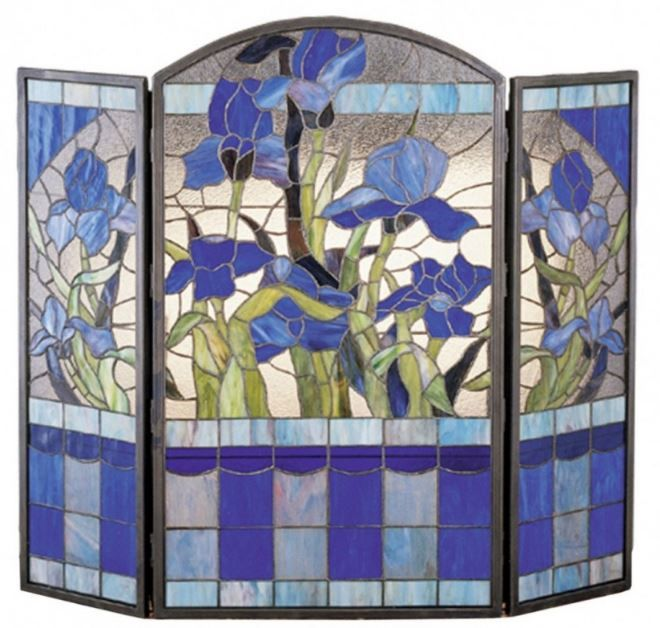 38 best Stained glass firescreens images on Pinterest | Fireplace ...