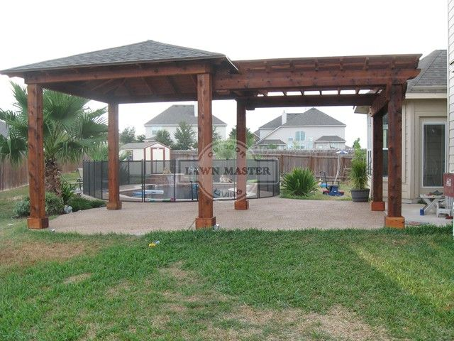 Hip Pavilion 08 In 2019 Cedar Pergola Backyard Gazebo