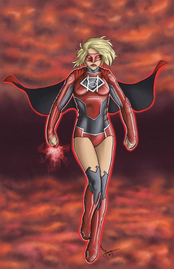 red lantern supergirl | Red Lantern Supergirl by Flocco on DeviantArt
