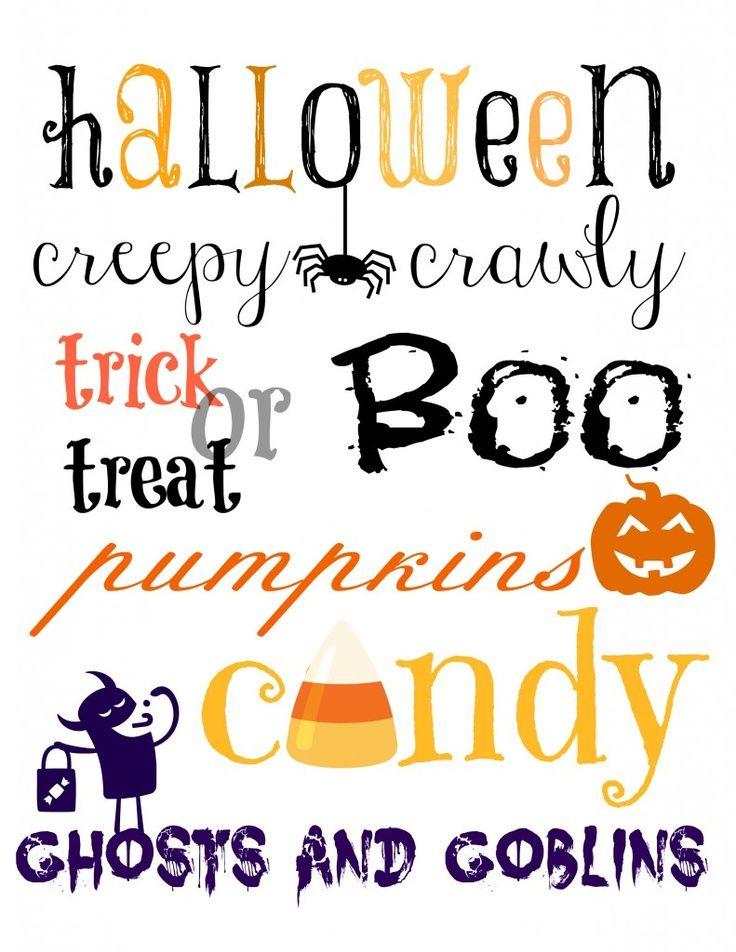 halloween printable - Halloween Printables Decorations
