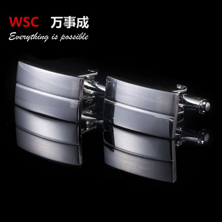 2016  Men Cuff Links 13 style Black Enamel Silver Tone Square Shirt Cuff Cuff links for Wedding Best Man Usher New