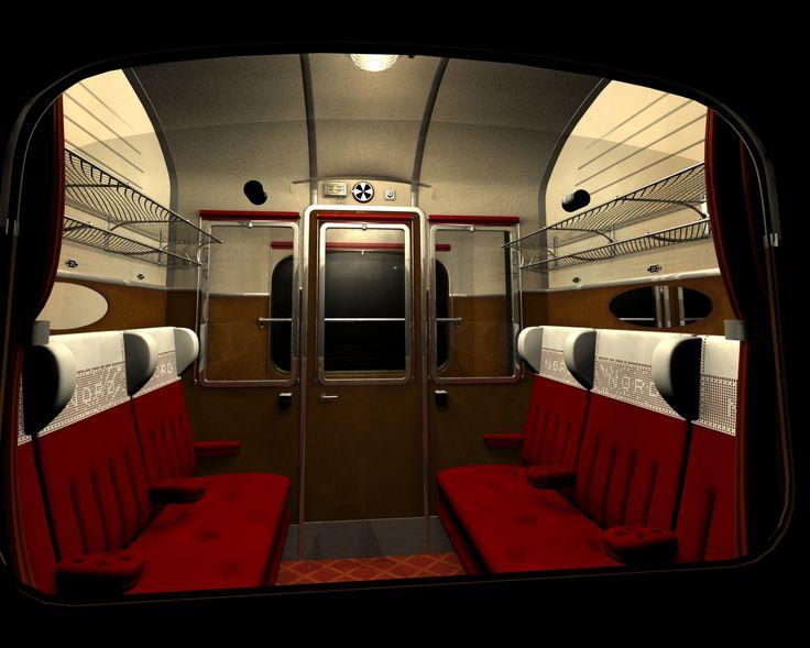 Un compartiment de voyageur dans l'époque ferroviaire, mais de quels voyageurs s'agit-il ?
