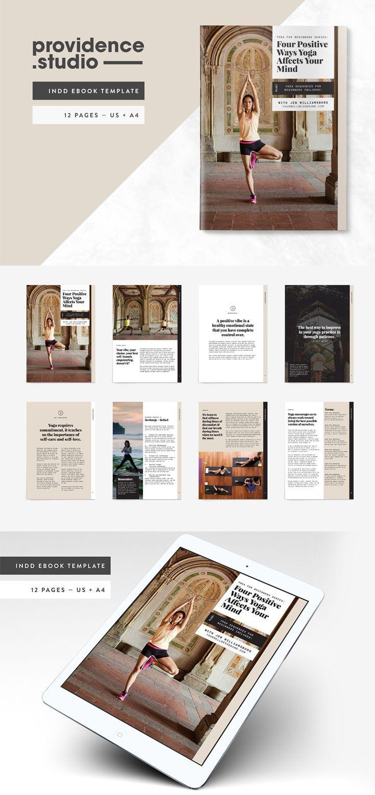 Yoga Modern Ebook Template Templates Indesign Templates