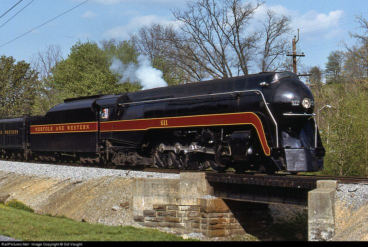 Norfolk & Western Railroad #611, Class J, 1950 Norfolk & Western Roanoke Shops 4-8-4 Northern. (Owned and operated by Virginia Museum of Transportation)