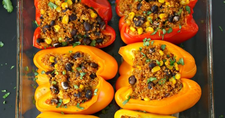 These rockin' stuffed peppers are both a fiesta for the eyes and the mouth ;) It's all starts with a delicious (and incredibly easy) M...