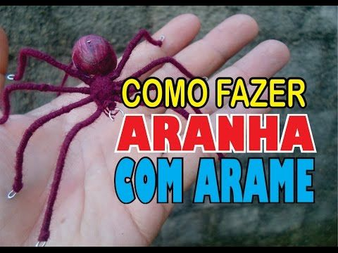 COMO FAZER ARANHA COM ARAME - YouTube