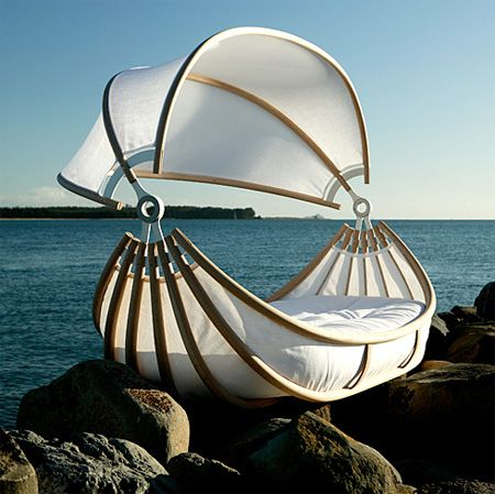 And someday when I have a house by water, I will sleep on this.. haha weird but again way cool.