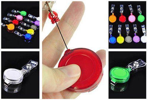 50 Pcs Clip Retractable Reel Id Badge Holder Key Chain Reels
