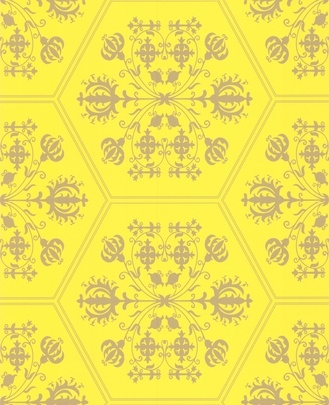 Yellow and gold pattern
