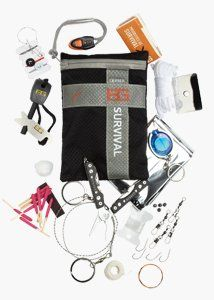 Bear Grylls Ultimate KitA survival kit built for hostile environments. Stick the Ultimate Kit in your backpack and hope your never have to use it. If you do, it has everything you need to survive in even the toughest spots.     $52