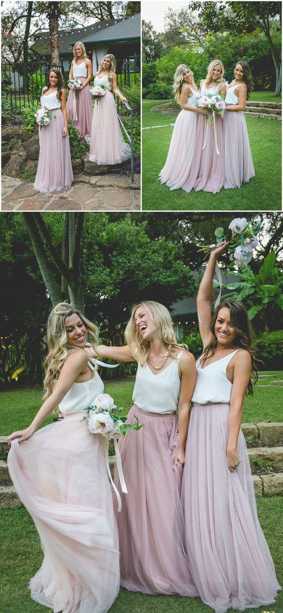 long bridesmaid dress, 2017 bridesmaid dress, pink bridesmaid dress, wedding party dress, boho bridesmaid dress, maxi dress