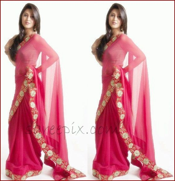 Sonarika Bhadoria still in pink saree