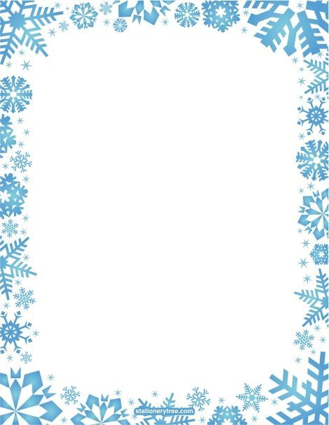 Printable snowflake stationery and writing paper. Free PDF downloads at http://stationerytree.com/download/snowflake-stationery/.