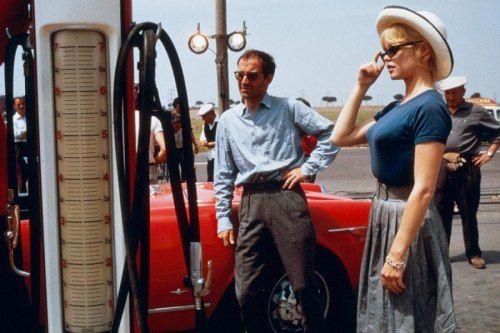 "missbrigittebardot: "" Brigitte Bardot & Jean-Luc Godard, 1963 """