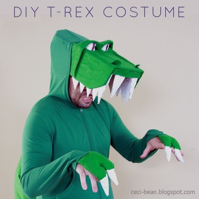 Last minute costume: Dinosaurs (T-Rex or Pterodactyl)