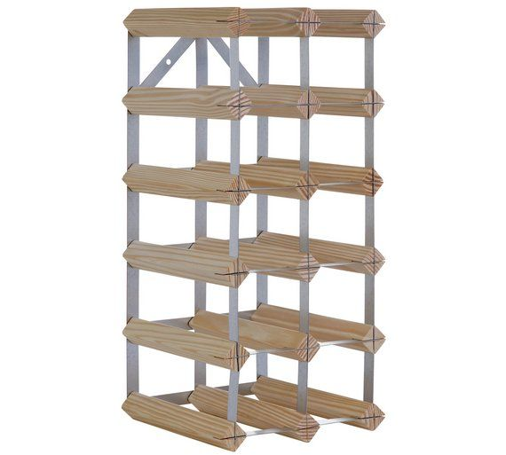 Buy HOME 15 Bottle Wooden Wine Rack at Argos.co.uk, visit Argos.co.uk to shop online for Wine racks and barware, Kitchenware, Cooking, dining and kitchen equipment, Home and garden