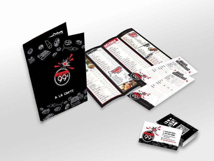 99 Cents Sushi Menu Design