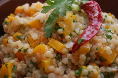 Israeli Couscous with Butternut Squash... I had the butternut squash couscous at Not Your Average Joes and I'm hoping this is similar because it was amazing!
