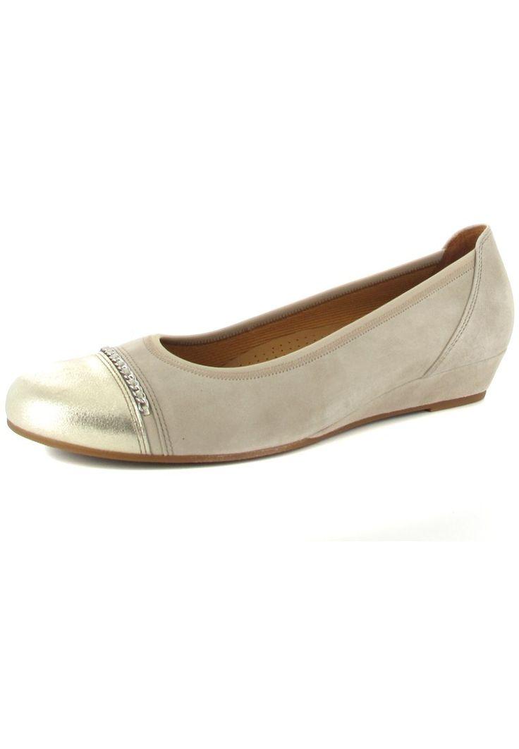 GABOR - Damen Keil-Pumps - Beige Schuhe in Übergrößen – Bild 1