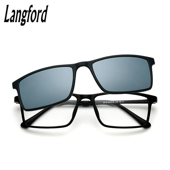 LangFord Prescription Glasses Frame Man Polarized Mirror