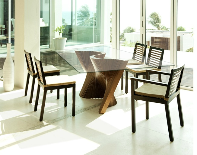 Kenneth Cobonpue Wave Table And Retaso Chairs