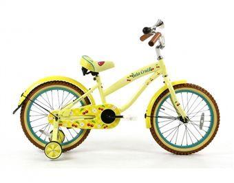 Kinderfiets Popal Beachcruiser Bela 18 inch geel