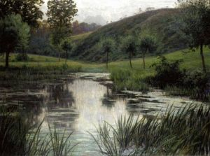 #LesXX Rodolphe Paul Marie Wytsman (Belgian, 1860–1927), The Pond, 98.5x133.5cm, Private collection.