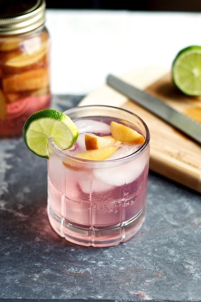 Peach Infused Gin and Tonic