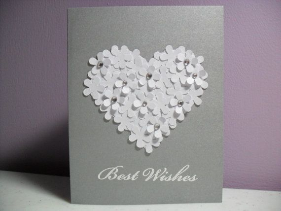 Handmade Engagement/Wedding Card  Best Wishes  by GGgreetings, $3.50