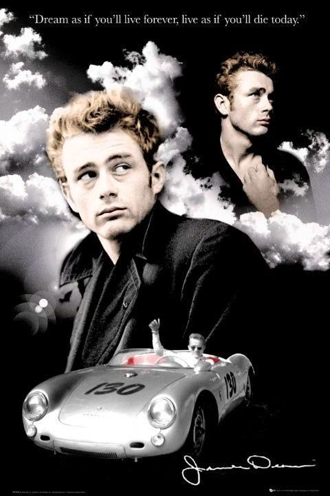James Dean , avec sa porche , libre maintenant !!                                                                                                                                                                                 More