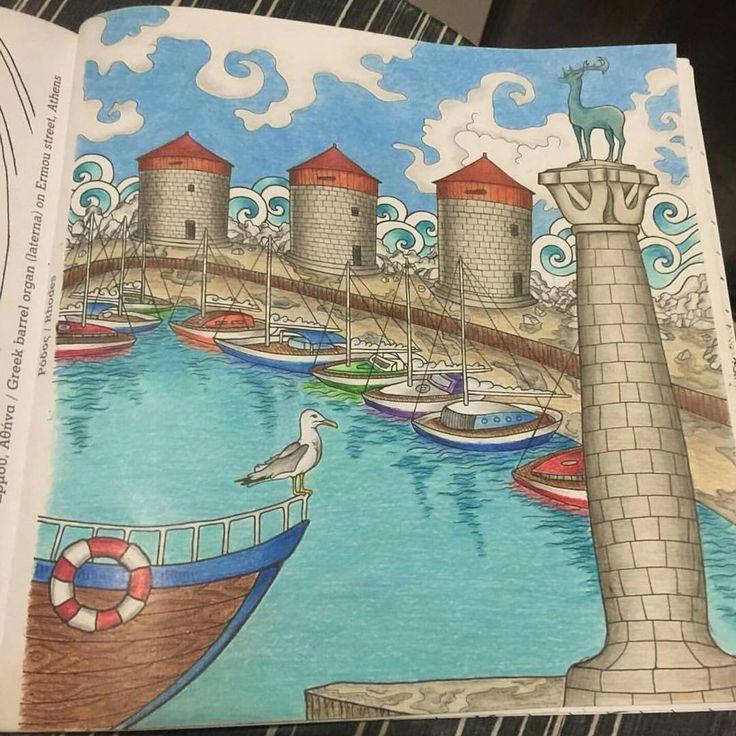 "41 Me gusta, 12 comentarios - Konstantinos Liaramantzas (@konstantinos.liaramantzas) en Instagram: ""#rhodesisland from #greececolouringbook ⛵ Coloured by @katja.lahti 💙💙 . . . #rhodes #ροδος…"""