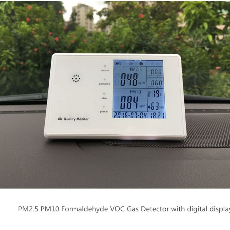 Free shipping personal home use VOC Measure humidity sensor air temperature pm2.5 pm10 meter monitor air quality indoor