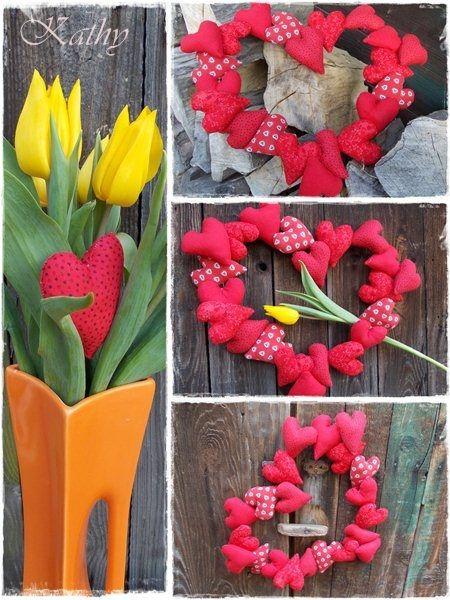 Hearts Wreath Věneček ze srdíček :: Kathy