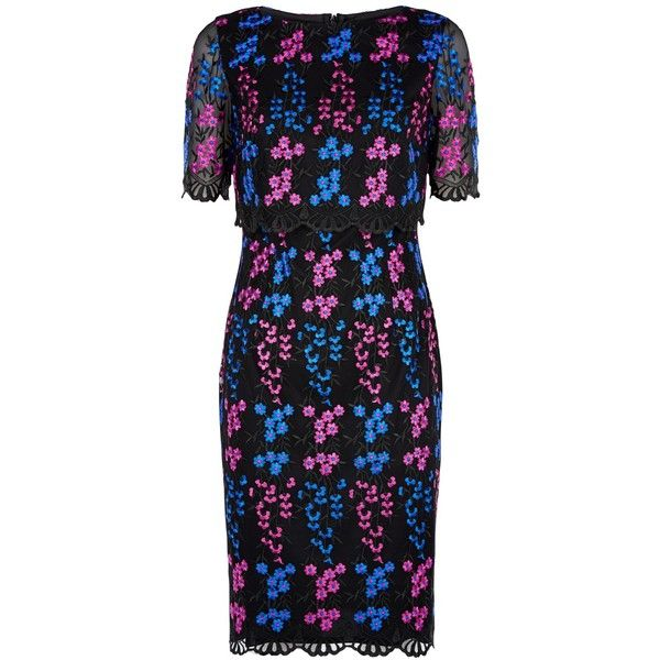 Fenn Wright Manson Petite Miranda Dress, Black ($110) ❤ liked on Polyvore featuring dresses, petite, midi dress, floral midi dress, maxi dresses, long-sleeve floral dresses and lace shift dresses